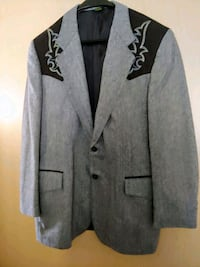 Men's grey and black Western Style jacket Murray, 84121