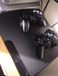 black Sony PS3 slim console with controller Washington, 20019