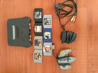 Nintendo 64 console with controller and game cartridges New Westminster, V3M 1L3