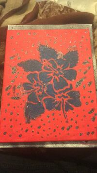 red and black floral textile Bakersfield, 93304