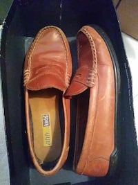 pair of brown Ahh Keds leather loafers