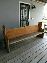 Solid oak church pew seven and a half feet wide  Toms River, 08753