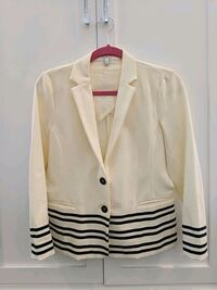 J Crew blazer, off-white with black stripes size small Vaughan, L4K 3S3