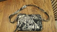 Black and White  Vera Bradley Crossbody Purse Sterling, 20164