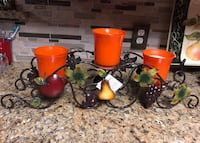"Fruit centerpiece 25 x 6 1/2"" metal by home interiors Dallas, 75211"