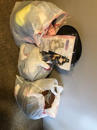 3 bags of clothes