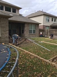 Concrete patio or driveway Houston