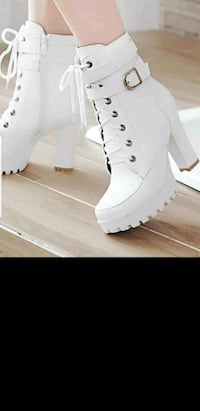 Chunky high heels women ankle boots