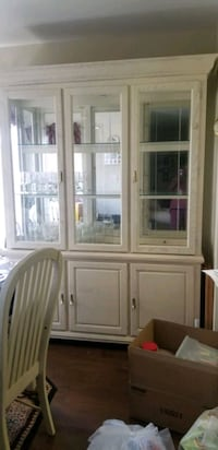 white wooden framed glass display cabinet Germantown, 20874