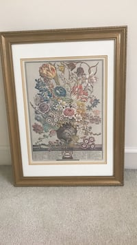 brown wooden framed painting of flowers 106 mi