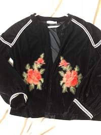 Black and red floral zip-up jacket Rancho Cucamonga, 91730