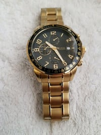 GUESS gold-colored chronograph watch with link bra Laval, H7V 1B1