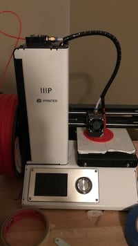 White and black iiip printer 3d printer