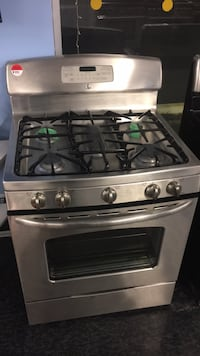 gray and black 4-burner gas range oven Toronto, M3J 3K7