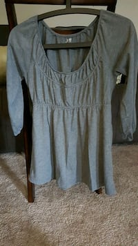 gray scoop-neck long-sleeved dress London