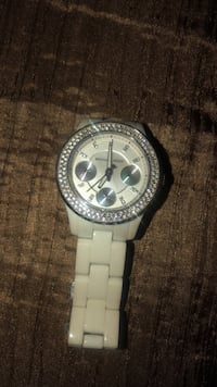 round silver chronograph watch with link bracelet Calgary, T3P 0R7