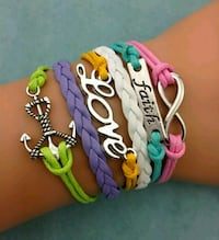 Multicolored Infinity Charm Bracelet