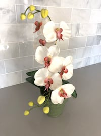 white and red flower arrangement Cypress, 90630