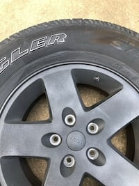 """Jeep Wrangler OEM wheels and tires 17"""" Towson, 21204"""