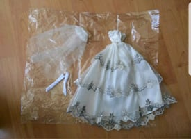 Barbie size wedding dress