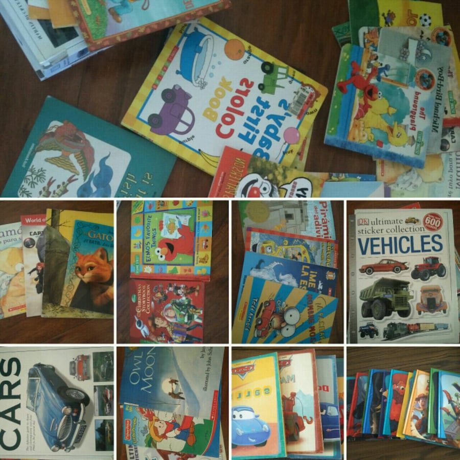 assorted color book collection in box