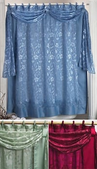 Window curtain with scarf set - brand new