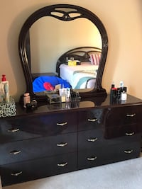black wooden dresser with mirror Springfield, 22151