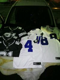 white and black NFL jersey Dallas, 75265
