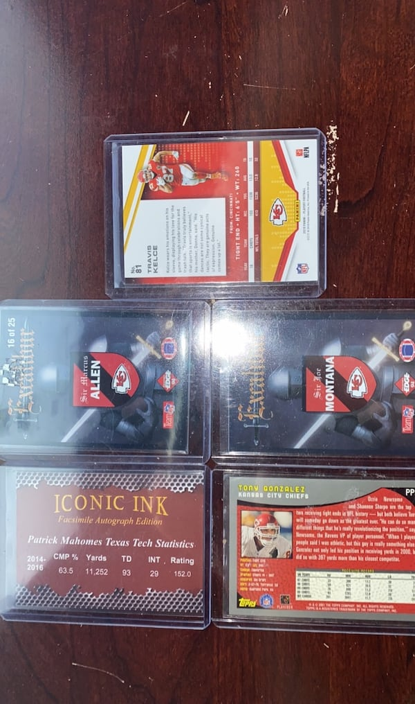 Lot of 10 current and former KC Chiefs football cards 71efada3-bdc8-45c9-b2a2-4d908c6d67f0