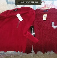LOT OF 2 NWT RED SWEATERS Barrington, 03825