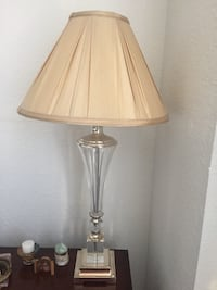 White and gray table lamp Miami Beach, 33140