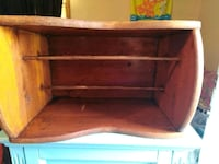 brown wooden 2-layer shelf Pearl
