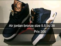pair of black Air Jordan basketball shoes Montreal
