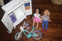 $40 for all Journey girls: dolls, bicycle and wardrobe - accessories would work for American Girl dolls Vaughan
