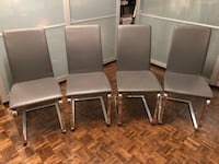 4 grey dining chairs  Montreal
