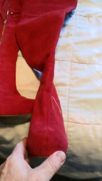Ladies red boots