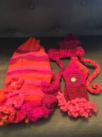 Dog sweaters with matching hat and scarf Chestermere