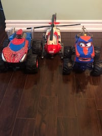 SPIDER-MAN AND DISNEY CARS MONSTER TRUCKS AND TONKA HELICOPTER! Toronto, M1S 1V9
