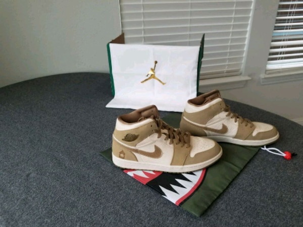 cc68470b26d4 Used pair of brown-and-white Air Jordan shoes for sale in Forney - letgo