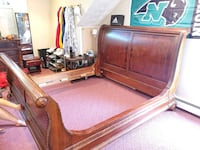King Sized Sleigh Bed With Matching Bureau!! (Cost was $3800 new)