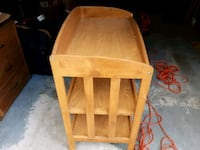 Wood baby changing table.  Bowie, 20721