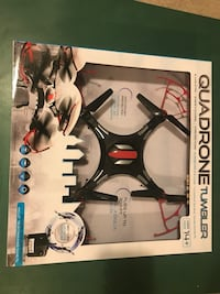 black and gray quadcopter drone with box Calgary, T2J 7J1