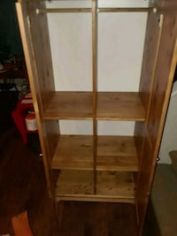 brown wooden 3-layer rack 2306 mi