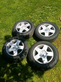 Vw wheels with 2 new tires  Dillsburg, 17019