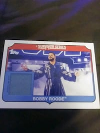 WWE BOBBY ROODE MAT RELIC CARD Greeley, 80634