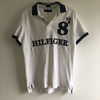 Medium- Vintage Tommy hilfiger white and black collard polo shirt Toronto, M6M 5A7