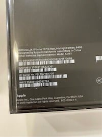 IPhone 11 Pro Max - 64 GB - Sealed Midnight Green