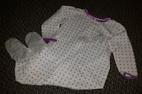 toddler's white and purple long-sleeved blanket sleeper