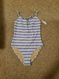 One Piece Lace-up Swimsuit