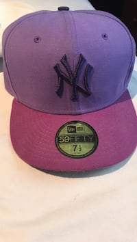 purple and red New York Yankees fitted cap Dundas, L9H 7A3